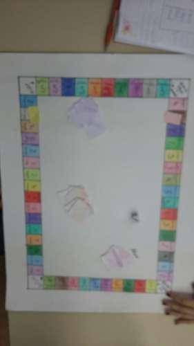 Alunos criam jogos de gramática.